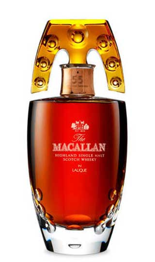 Macallan Lalique Crystal Decanter, 55 лет: 12500$